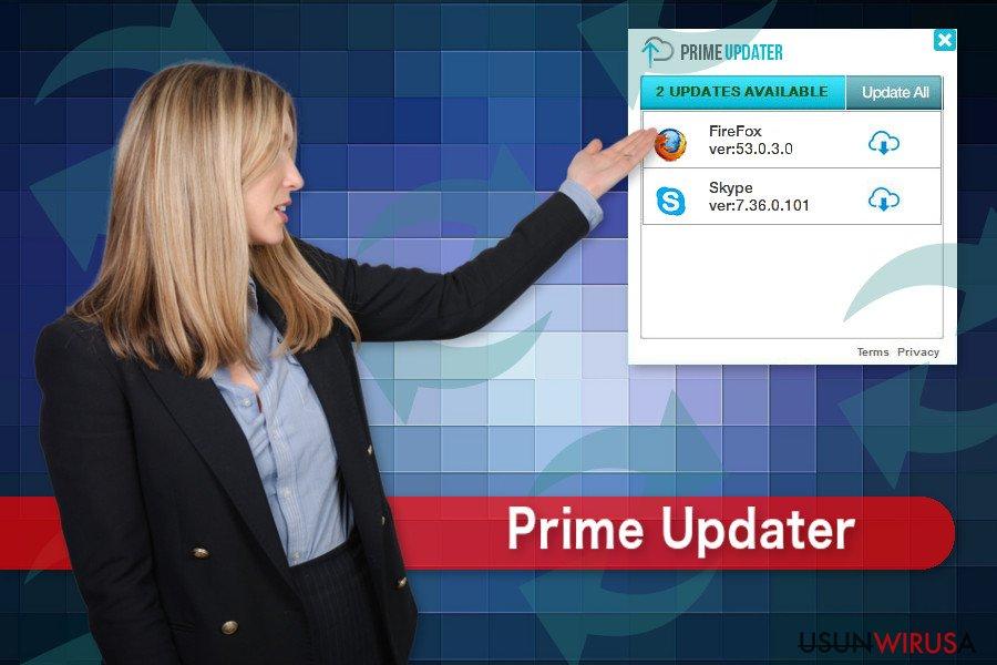 Ilustracja wirusa Prime Updater.