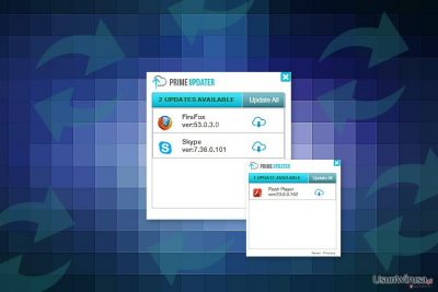 Obraz wirusa Prime Updater
