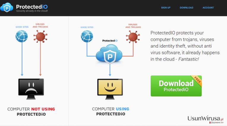 Search.protectedio.com snapshot