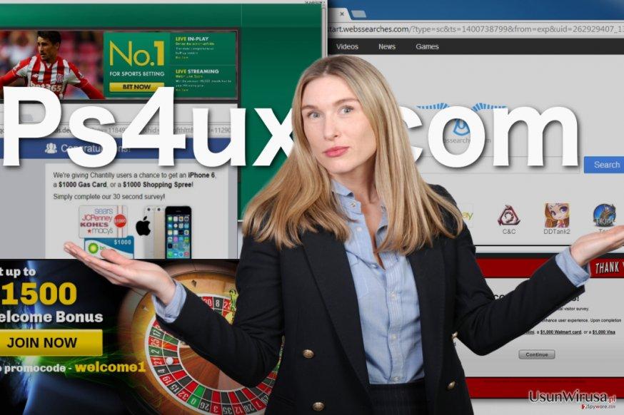 Ilustracja prezentująca wirus Ps4ux.com