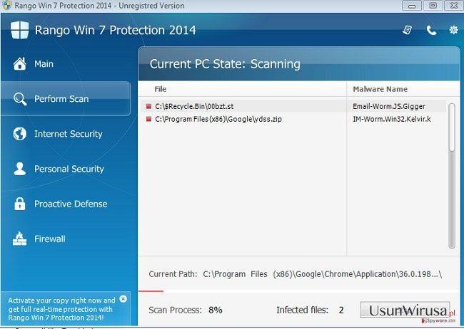 Rango Win 7 Protection 2014 snapshot