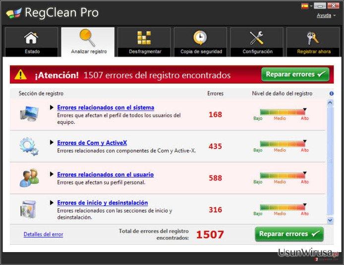 RegClean Pro snapshot