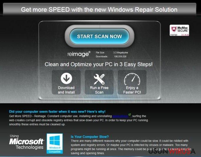 Reklamy ReimagePlus.com snapshot
