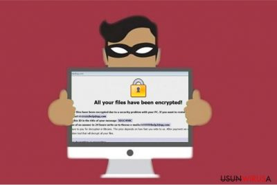 Obrazek ransomware'a Restorehelp@qq.com