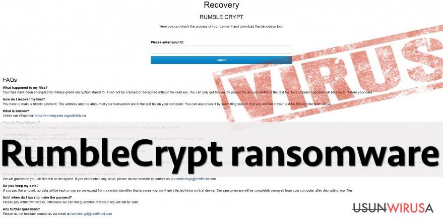RumbleCrypt virus