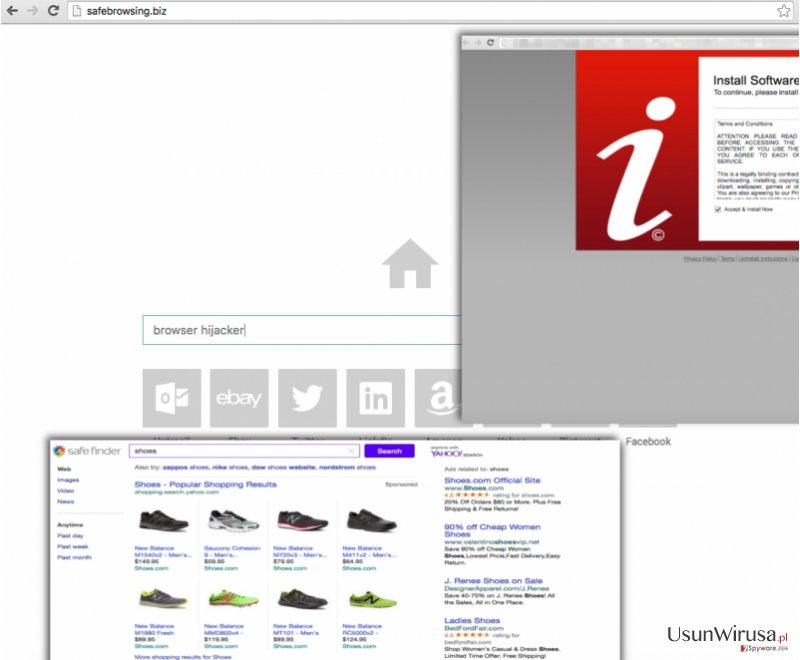 Screenshot of Safebrowsing.biz virus
