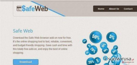 SafeWeb adware snapshot