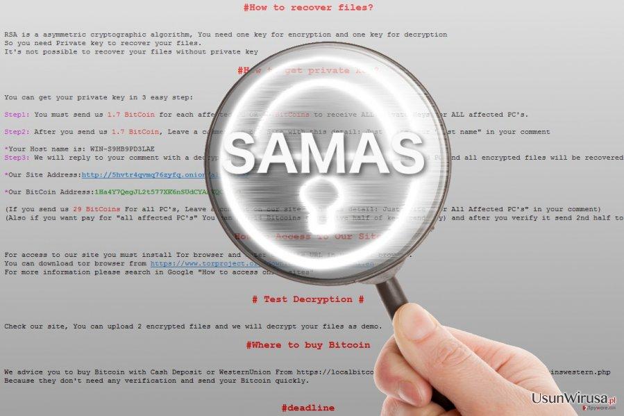 Ransomware Samas pod lupą