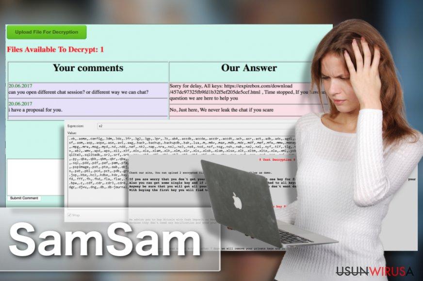 Wirus SamSam snapshot