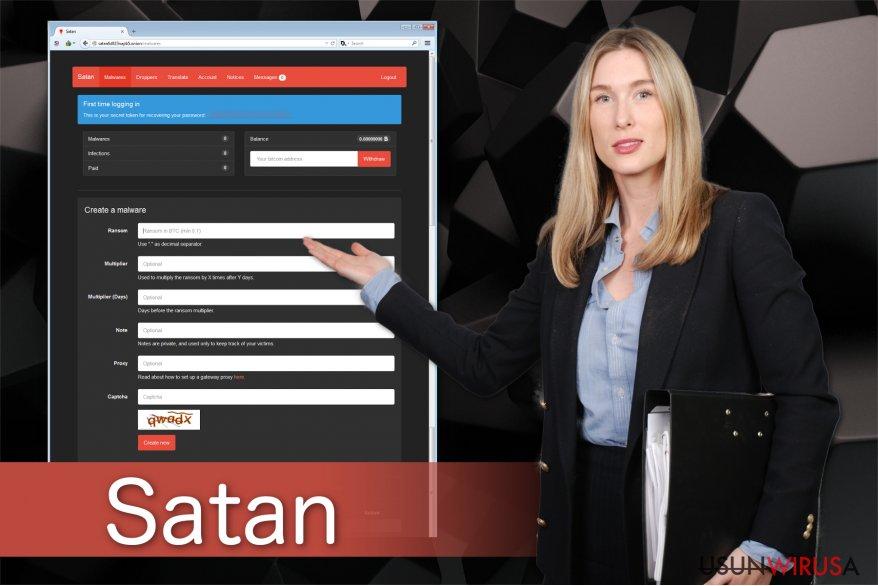 Obrazek ransomware'a Satan