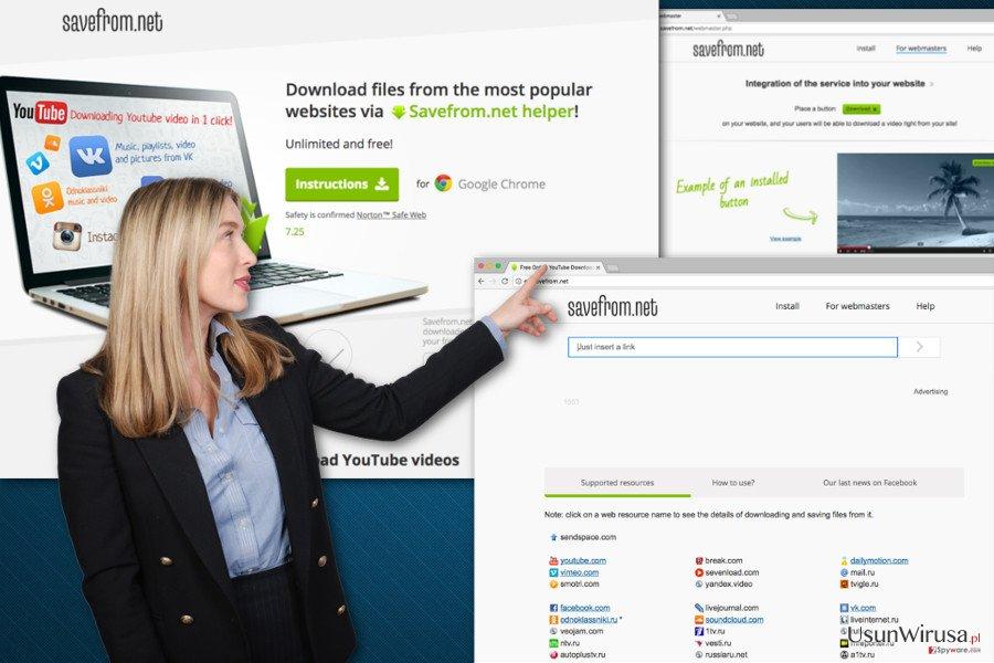 Wirus SaveFrom.net snapshot