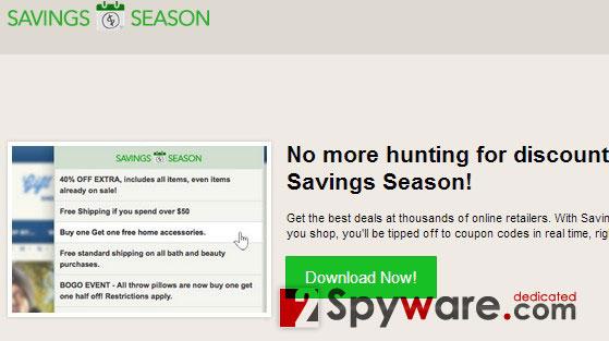 Savings Season ads snapshot