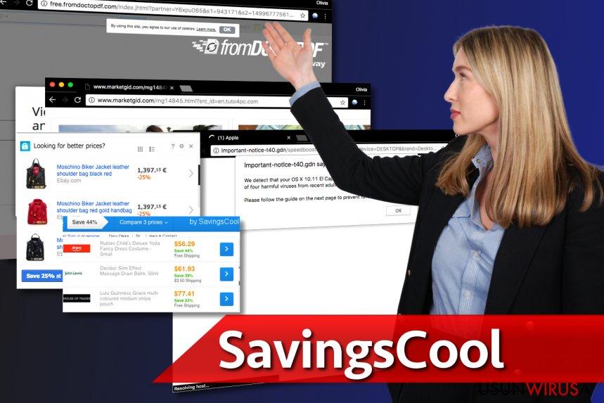 Obrazek przedstawiający kolejne reklamy SavingsCool