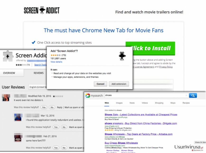 Screen Addict redirect virus