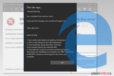 Prezentacja wirusa Microsoft Edge
