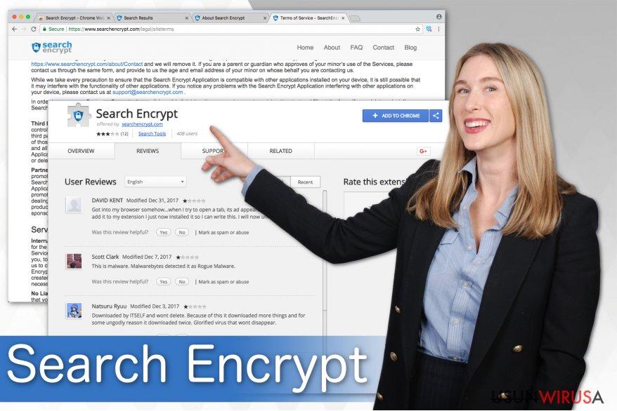 Na ilustracji: Search Encrypt