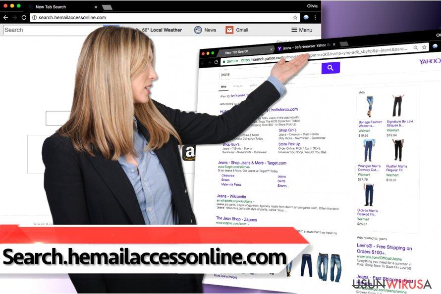 Wirus przekierowań search.hemailaccessonline.com