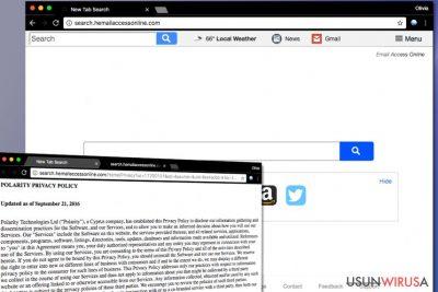 Wirus search.hemailaccessonline.com