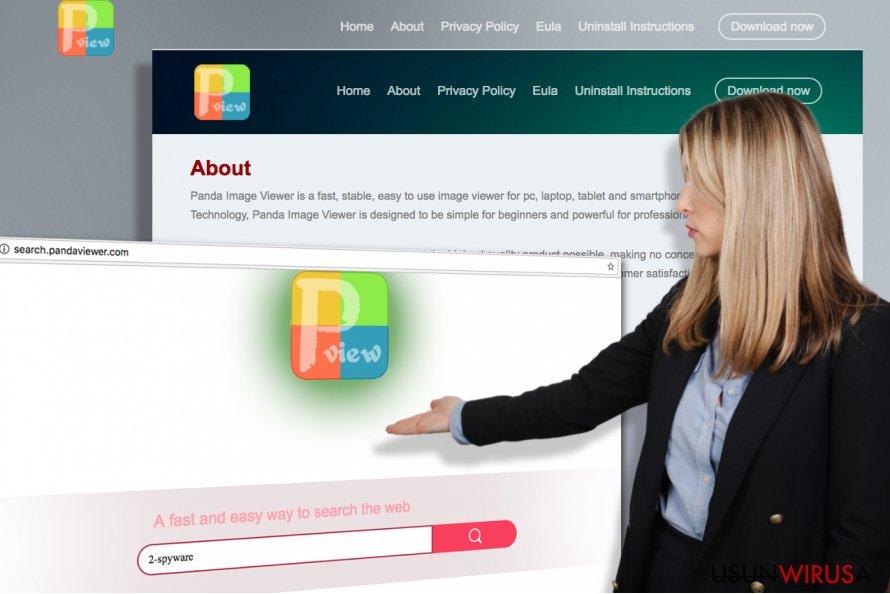 Zrzuty ekranu z oficjalnej strony Search.pandaviewer.com