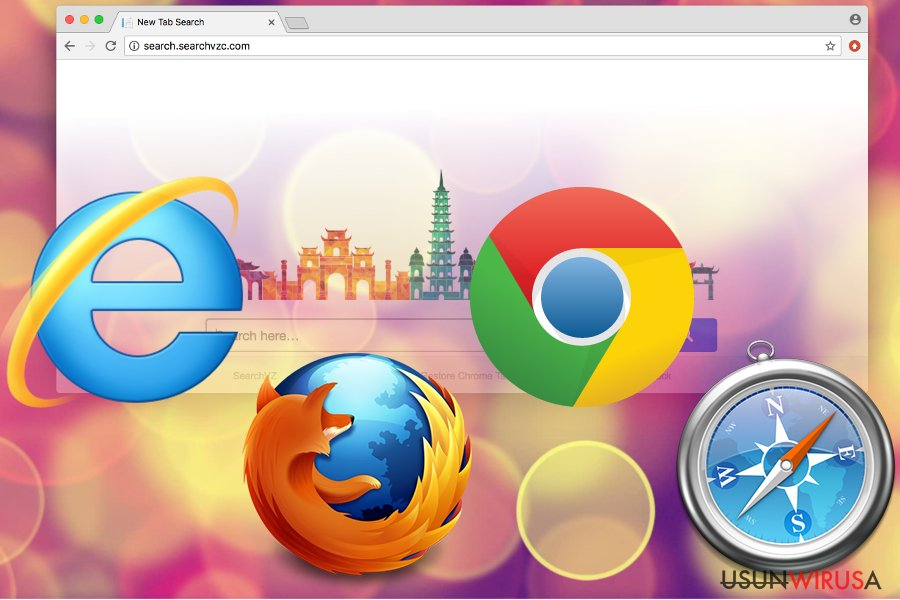 Niepożądana aplikacja Search.searchvzc.com