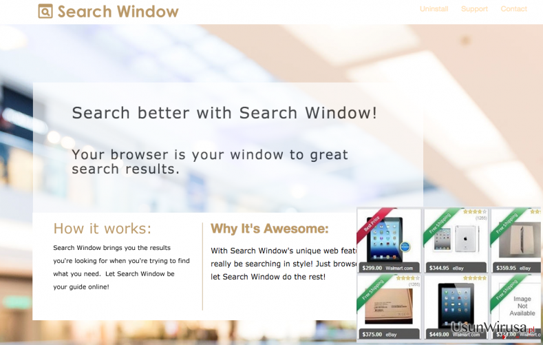 The official website of Search Window and commercial ads
