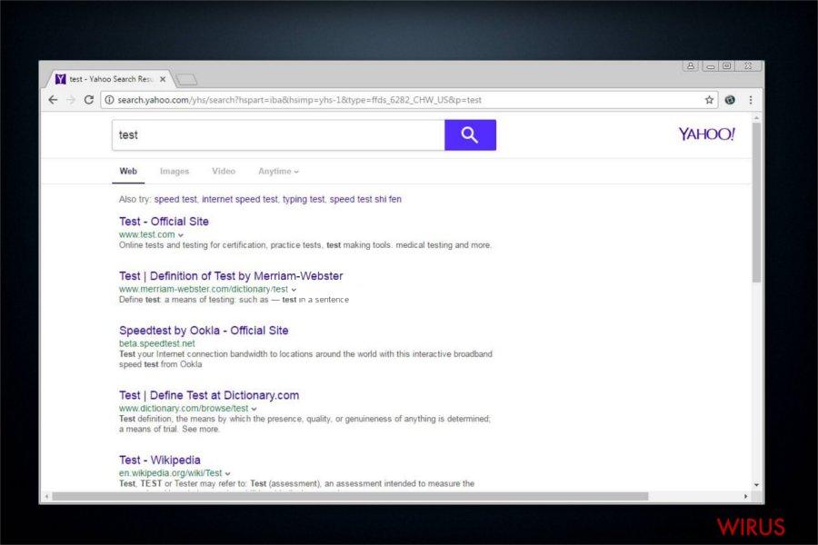 Przekierowania search.yahoo.com snapshot