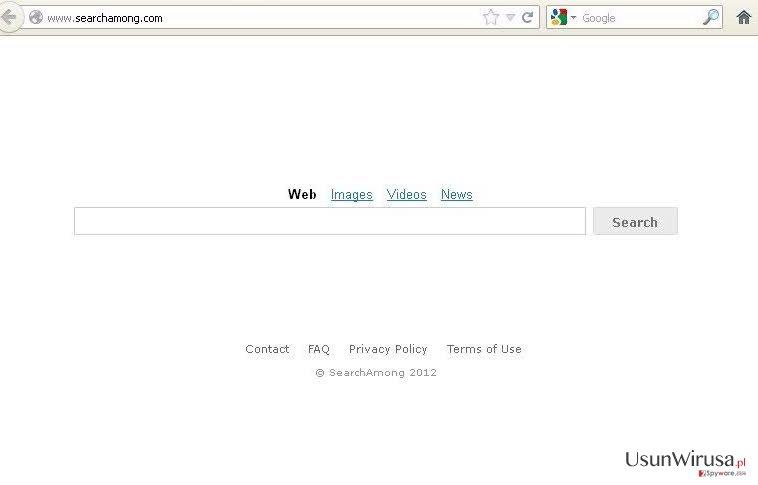 SearchAmong.com virus snapshot