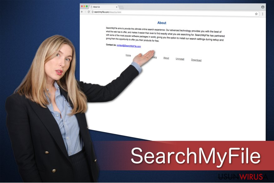 A researcher shows SearchMyFile message windows