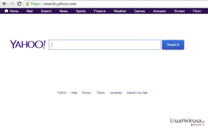 Przekierowania search.yahoo.com
