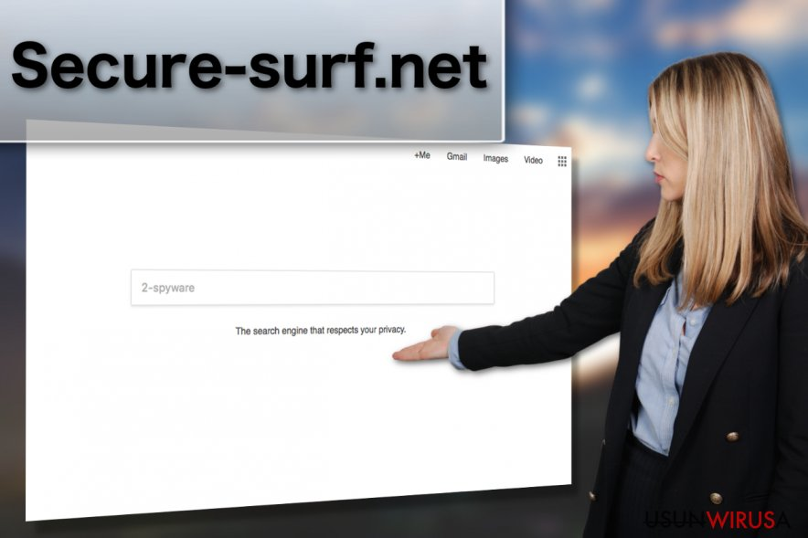 Przedstawienia wirusa Secure-surf.net