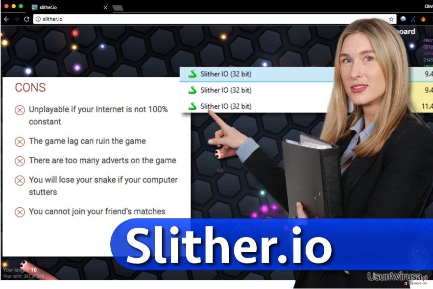 Przykładowa aplikacja Slither.io