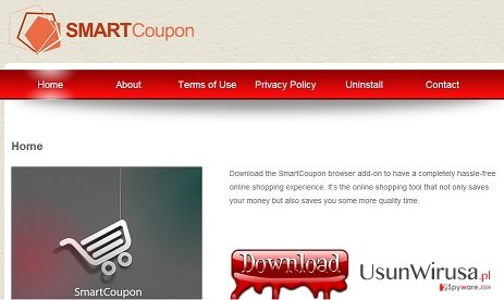Adware SmartCoupon snapshot