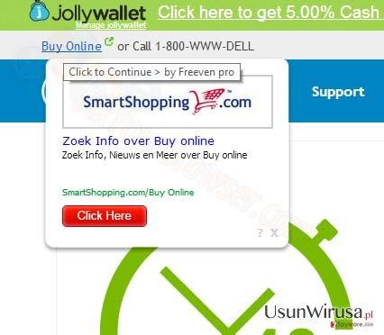 SmartShopping.com pop-up ads snapshot