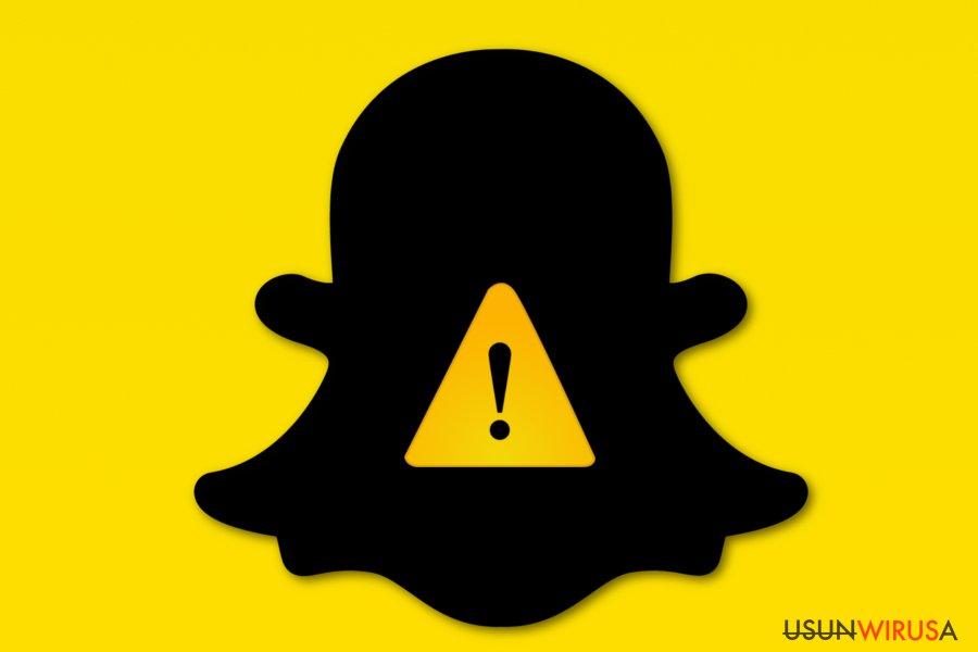Obrazek wirusa Snapchat