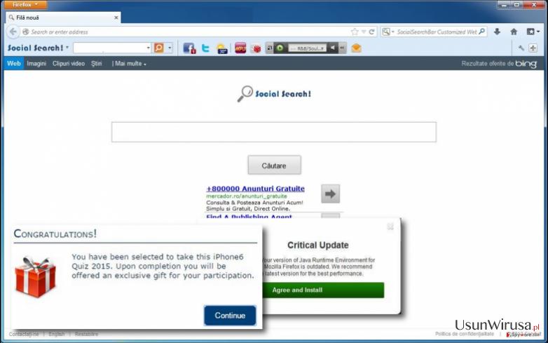 Social Search Toolbar virus