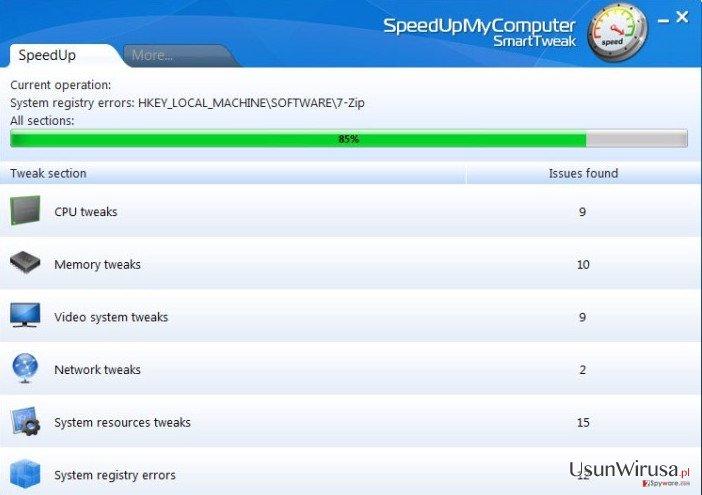 SpeedUpMyComputer snapshot