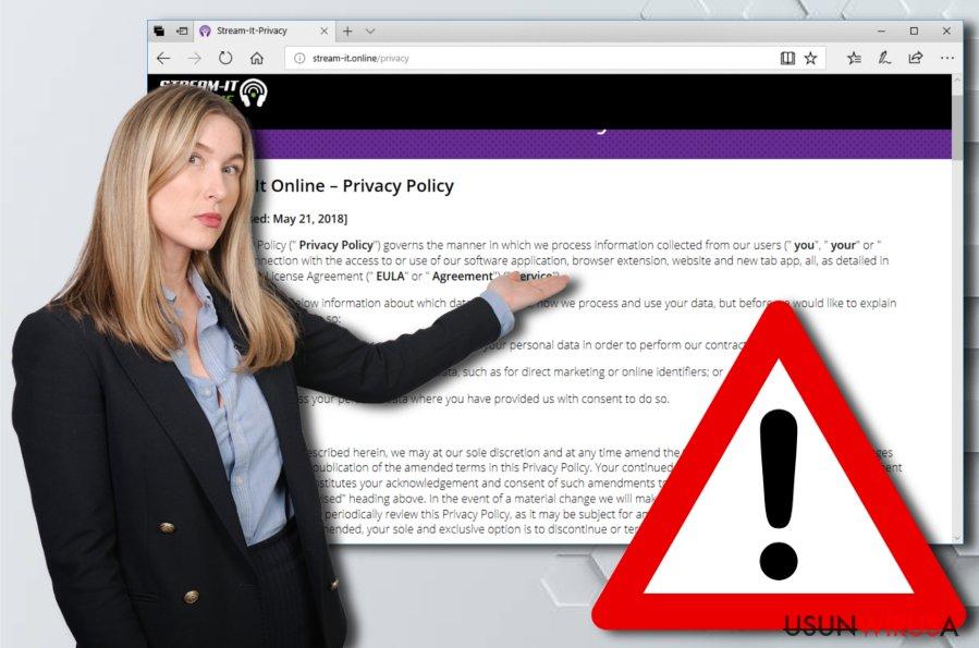 Niepożądana aplikacja Stream-it.online.com
