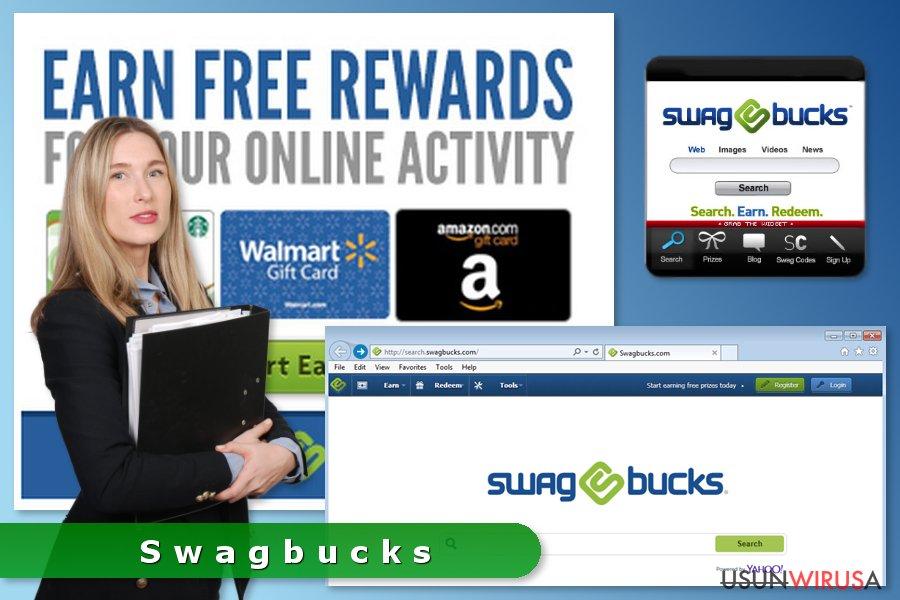 Prezentacja adware'a Swagbucks