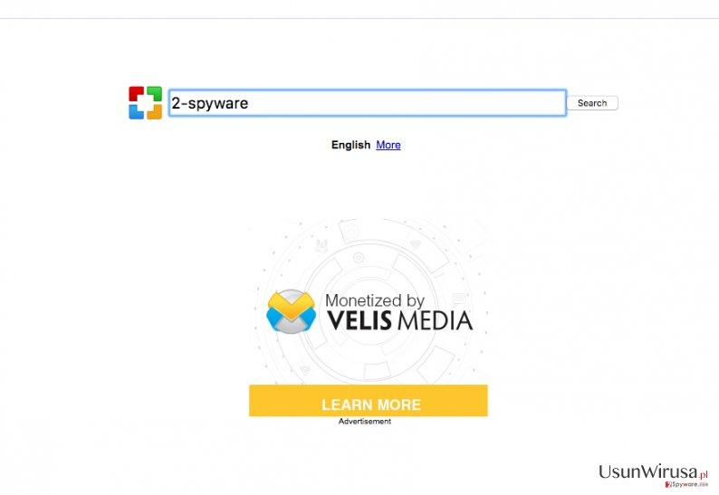 An image of the Sweetpacks-search.com virus