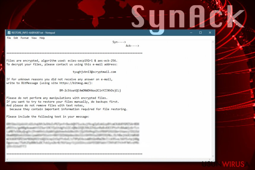 SynAck ransomware virus spreads worldwide