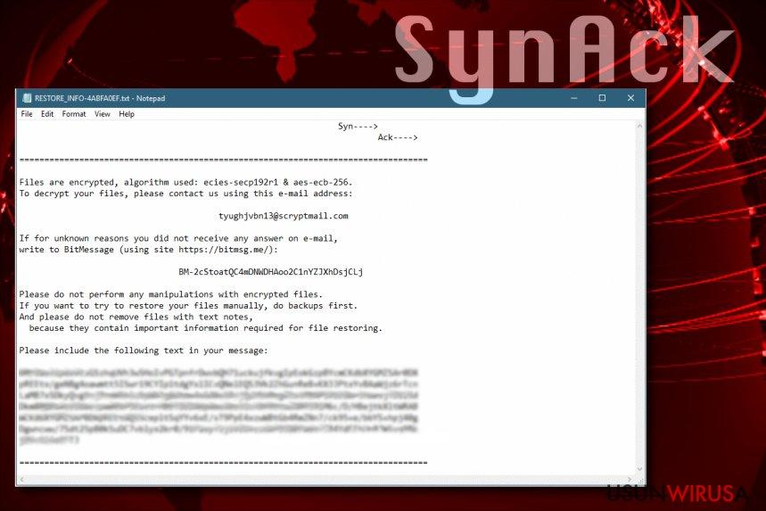 Wirus ransomware SynAck rozpowszechnia się po Świecie