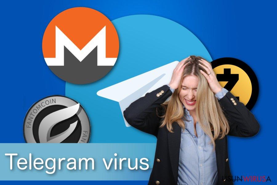 Ilustracja wirusa Telegram