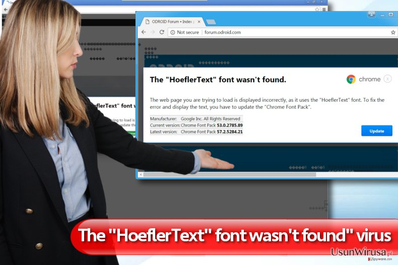 "Reklamy ""The HoeflerText font wasn't found"" snapshot"