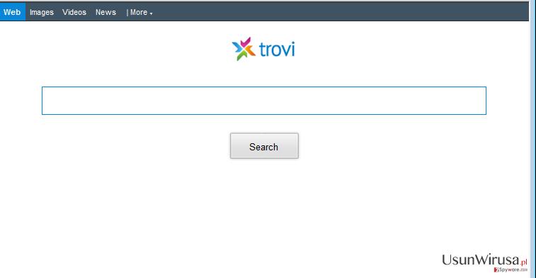 Przekierowania Trovi.com snapshot