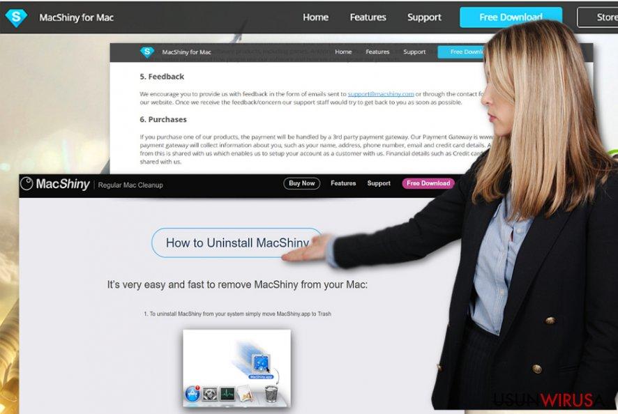Instrukcje usuwania MacShiny dostarczone na oficjalnej stronie