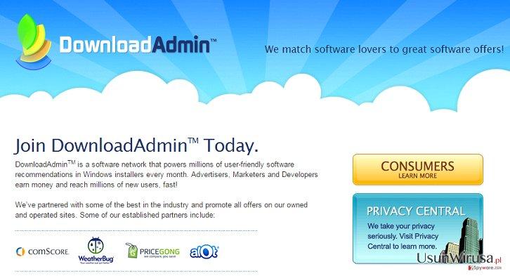 Oprogramowanie UpdateAdmin snapshot
