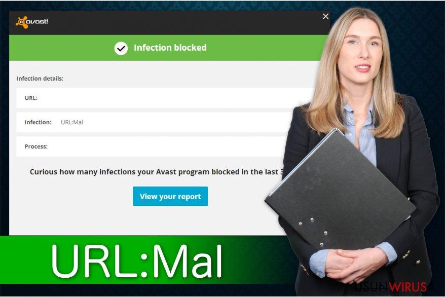 Ilustracja przedstawiająca adware URL:Mal