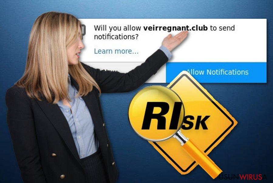 Niepożądana aplikacja Veirregnant.club