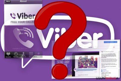 Obrazek przedstawiający aplikację mobilną Viber oraz jej rozszerzenie przeglądarkowe