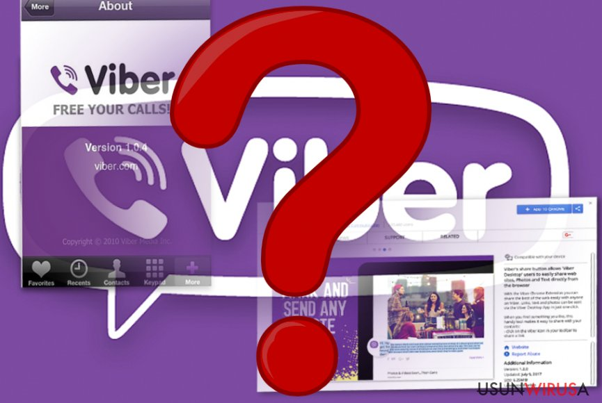 The image of Viber mobile app and browser extension